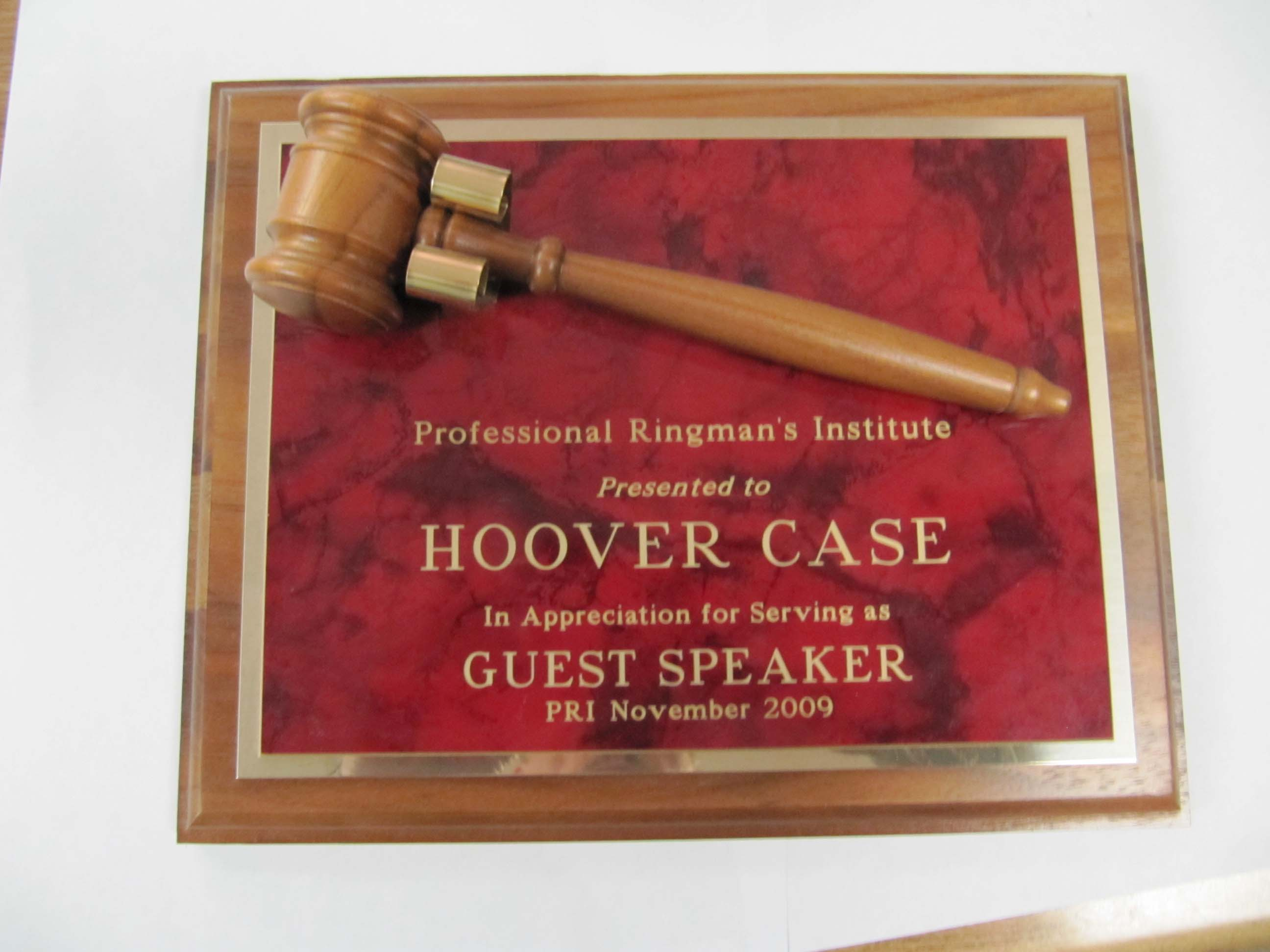 8x10 red mable gavel plk
